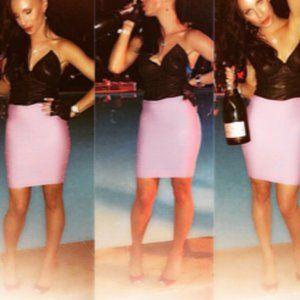 BCBG MaxAzria Purple Pencil Skirt Sz XXS